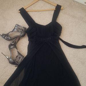 💥3/15$ High Low Beaded Black Dress
